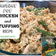 Chicken & Dressing - Instant Pot @keyingredient #quick #soup #chicken #easy