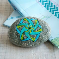 Travel Stone // gift for travelers // handpainted by Based on a true story. They come in handmade road map-gift bags!
