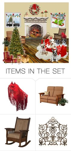 """""""Puppies First Christmas"""" by jroy1267 on Polyvore featuring art"""