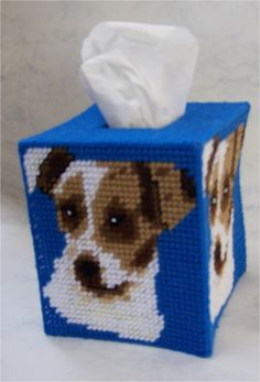 everything plastic canvas | Plastic Canvas-Jack Russell Terrier Tissue Topper Plastic-Canvas-Kits ...