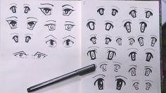 my drawing in my sketchbook. anime eyes