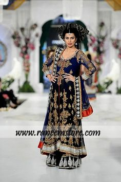 Design HER1127, Product code: HER1127, Elegant Pakistani designer bridal dresses with traditional embellishments USA, UK 2013