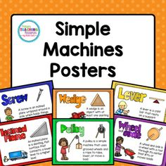 Why spend five times as much on store bought posters? Here is everything you need to set up your simple machines bulletin board display!