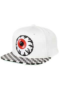 The Keep Watch Skunk Snapback Hat in White by Mishka
