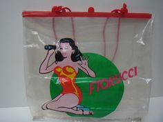 set of three,vintage- classic Fiorucci shopping bags from seventies. $45.00, via Etsy.  ...when A teenager, I used to collect Fiorucci shopping bags!!
