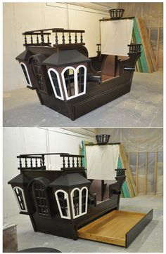 This incredible pirate ship bed even comes with a trundle! Best sleepovers ever!
