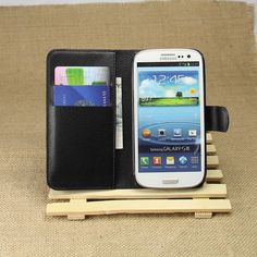 Wallet Flip Case PU Leather Cover Case For Samsung Galaxy S3 i9300 With Card Slots Holder