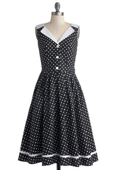 Love You Brunches Dress in Black. Nothing delights you quite as much as a mid-morning meal with the ones you love. #black #modcloth: