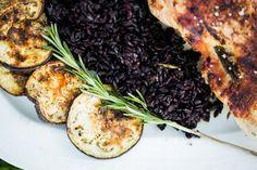 REISHUNGER Schwarzer Reis mit gefüllter Hähnchenbrust #reishunger #schwarzerreis #schwarzer #reis #hähnchen #italienisch