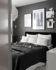 Gothic Home Decor - Gothic Home Decor You are in th - Home Bedroom, Modern Bedroom, Bedroom Wall, Bedroom Decor, Home Room Design, Home Interior Design, Interior Livingroom, Interior Ideas, Scandi Home