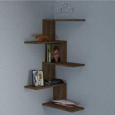 home_decor - Huddle Modern Wall Shelf Corner Bookshelves, Corner Wall Shelves, Wall Shelves Design, Diy Wall Shelves, Floating Shelves, Glass Shelves, Wood Shelf, Display Shelves, Diy Casa