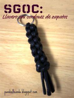 Llavero Imitación Cuero (con cordón de zapatos)