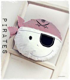Kolekcja MARINE - poduszka PIRAT - kasandra76 - Poduszki dla dzieci