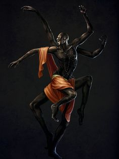 Anansi is an African trickster god. He is also a Creator God, having created rain, day and night. He is as wise as he is clever. And, in case you couldn't tell by the image, he was a spider god, being able to morph into a spider and a normal looking human being. In some stories, he is the son of Nyame, the sky god, who got so annoyed with his son that he turned him into a spider.