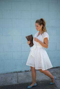 White Eyelet Dress - Gal Meets Glam