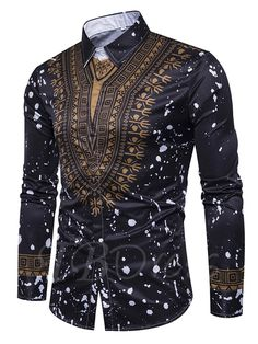 Beonlema African Tops Men Casual Shirts Homme Stand Collar Grace Fitting Clothes Soft Cotton Shirts In Long Sleeve African Shirts For Men, African Dresses Men, African Tops, African Men Fashion, Tribal Shirt, Long Sleeve Shirt Dress, Long Sleeve Shirts, Dress Shirts, Men's Shirts