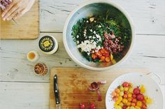 Sprouted Kitchen's Kale Salad with Tomatoes, Olives Feta3 #salad