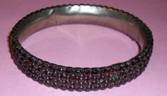 Vintage Garnet Bracelet by micslovespink07 on Etsy, $295.00