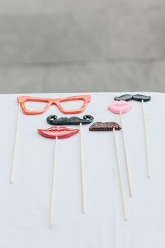 The perfect photo booth accessories. Photography by rebeccawood.ca