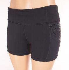 LULULEMON Run Shorty Short 6 S Small Black Competitive Pockets Yoga #Lululemon #Shorts