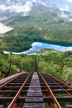 Roller Coaster, Magelibanen, Norway. What a beautiful view from the roller coaster! I'm in! :)