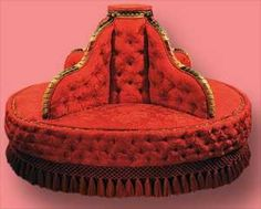 """This piece is traditionally called a """"borne"""" settee. The borne settee actually arose during Napoléon III's period in France"""