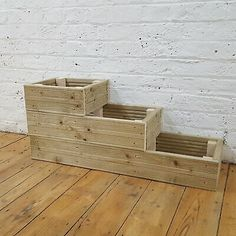 All the decking wood has been treated with Tanelith E so that they will last for many many years. We also use Decking screws which are rust / weather resistant. Once fully planted they will look stunning. Diy Wood Planter Box, Deck Planters, Tiered Planter, Wooden Garden Planters, Tiered Garden, Cedar Planters, Diy Planters Outdoor, Large Planter Boxes, Elevated Planter Box