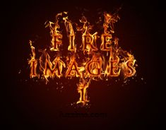 Free Hi-Res Fire Images Part 1 ~ wow, this is just awesome with using a burning text font!