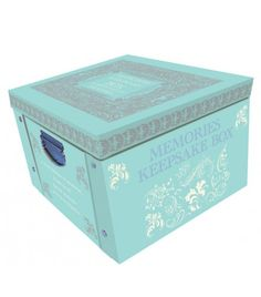 Blue My Baby Keepsake Box A Lifetime Of Memories Large Collapsible Storage Box - Storage Boxes - Stationery Baby Keepsake, Keepsake Boxes, Painted Clay Pots, Memory Storage, Decorative Storage Boxes, Wimpy Kid, Baby Memories, Baby Boy Newborn, Tiffany Blue