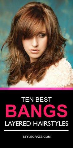 Top Layered Bangs Hairstyles
