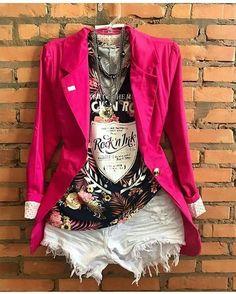 A touch of class Girls Summer Outfits, Short Outfits, Chic Outfits, Fashion Outfits, Look Fashion, Girl Fashion, Womens Fashion, Look Blazer, Wattpad