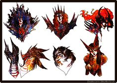 Silmarillion_ Melkor and his lieutenants by Daswhox on @DeviantArt