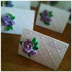 Segnaposto#matrimonio#floreale#eventi#provenzale#shabby#quilling#rose