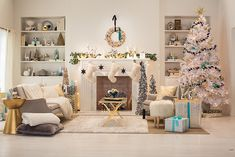Target Styling Chapter 5: black/white and teal holiday living room