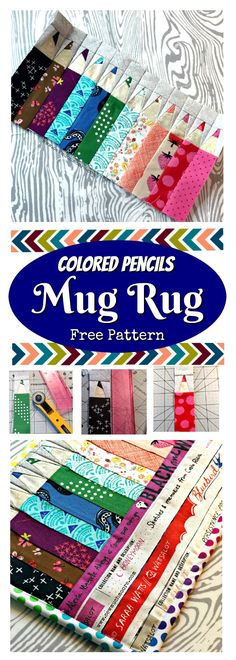 The Colored Pencils pattern by Kristy Lea of Quiet Play is a fun and easy foundation paper piecing pattern that is just perfect for using up your precious scraps! Let me show you all about the Colored Pencils Mug Rug!