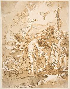 Giovanni Domenico Tiepolo | The Baptism of Christ | The Met