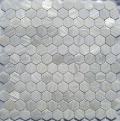 """Genuine Mother of Pearl Shell Tile White 1"""" Hexagons (On a 12"""" X 12"""" Mesh) for Backsplash and Bathroom Walls and Floors by Tile Circle, http://www.amazon.com/dp/B0071FFPR0/ref=cm_sw_r_pi_dp_ecXfrb069N3ZH"""