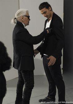 Zlatan Ibrahimovic by Karl Lagerfeld