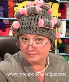 You are going to get a laugh and a half out of this Curler Crochet Hat and it's a fabulous free pattern. It makes a great homemade gift too.