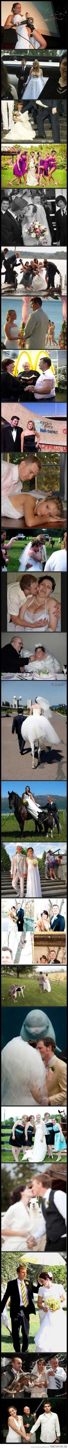 The most ridiculous wedding photos EVER