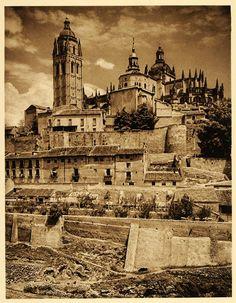 1925 Cathedral Segovia Spain Gothic Architecture Church. Kurt Hielscher