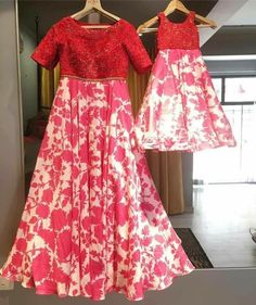 Mom and Baby Dresses Mom Daughter Matching Dresses, Mom And Baby Dresses, Kids Party Wear Dresses, Mother Daughter Outfits, Mom Dress, Girls Dresses, Anarkali Dress, Lehenga, Princess Outfits