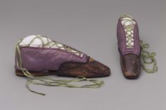 Women's Shoes with Toe Protectors, 1810-30, Made of silk, cotton, and leather