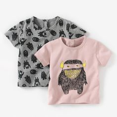 Pack of 2 Printed Short-Sleeved T-shirts-La Redoute. My monster all overs and my friend Fiona's monster on top! :-D