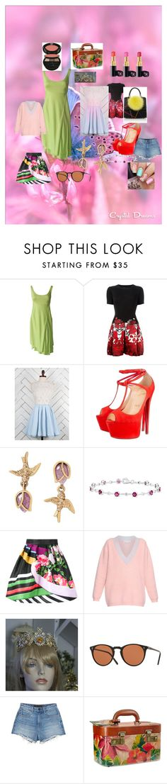 """""""Spring 2016"""" by emmaw345 on Polyvore featuring Versace, Philipp Plein, Altar'd State, Christian Louboutin, Les Petits Joueurs, Betsey Johnson, Mary Katrantzou, Jonathan Saunders, Alexander Wang and Chanel"""