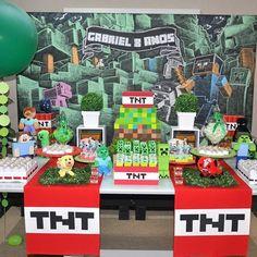 Imagen relacionada Minecraft Birthday Party, Birthday Parties, Troll Party, Minecraft 1, Baymax, Halloween, Creative, Kids, Fiestas