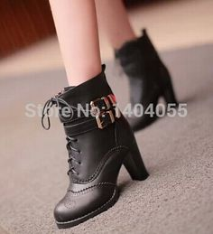 Wholesale New style Sexy fashion hot sale specials female Martin leather retro lace up belt buckle noble ankle boots EU34 39-in Boots from Shoes on Aliexpress.com | Alibaba Group