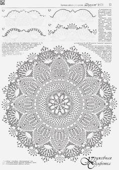 ↦ Crochet string rug - Learn how to make amazing model. - Her Crochet Crochet Doily Diagram, Crochet Mandala Pattern, Filet Crochet, Knit Crochet, Crochet Patterns, Doily Rug, Lace Doilies, Crochet Doilies, Crochet Carpet