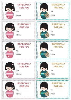Creative Mamma » Free Printable: Kokeshi Doll Gift Tags