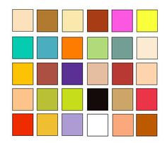 Hanna Barbara Colour Palette